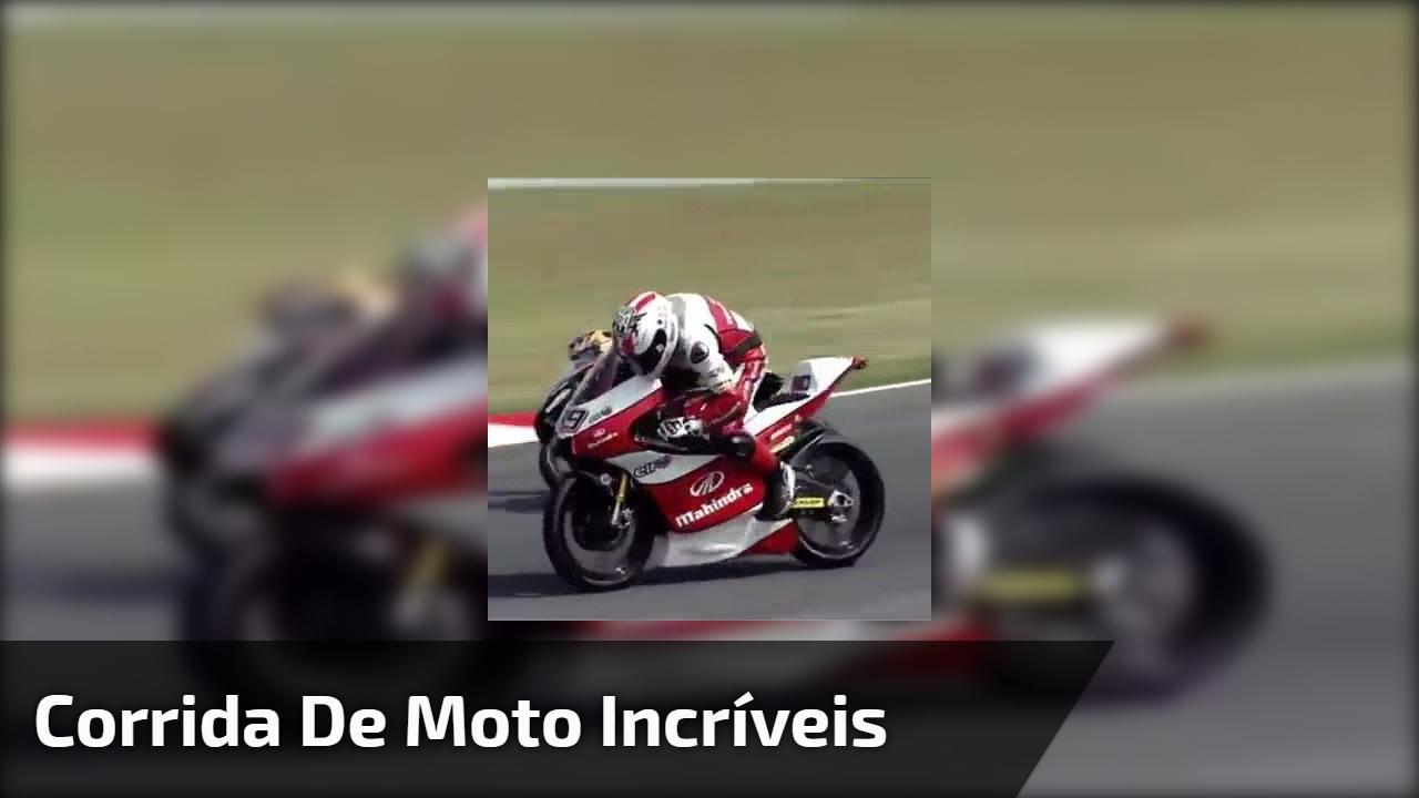 Corrida de moto incríveis