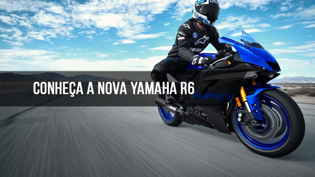 Vídeo mostrando a nova Yanaha R6