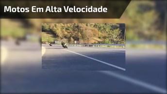 Vídeo Mostrando Motos Em Alta Velocidade Na Estrada, Veja Que Incrível!