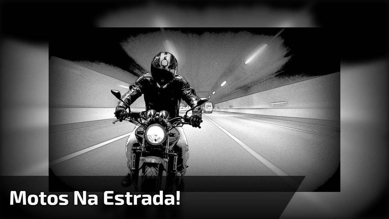 Vídeo mostrando motos na estrada, veja a velocidade de uma delas!!