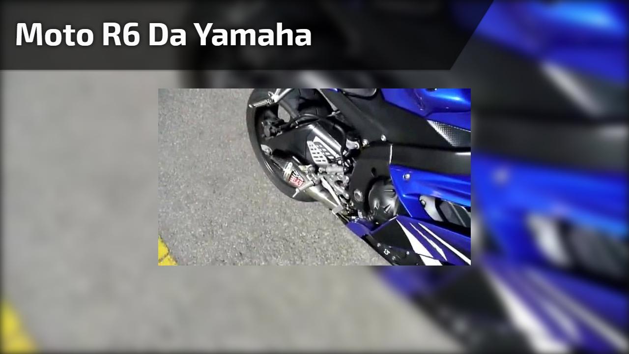 Vídeo mostrando R6 Yamaha, veja que linda moto, impossível não apaixonar!!!