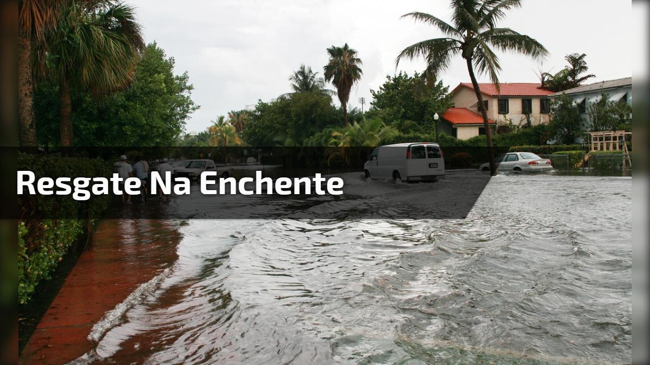 Resgate na enchente
