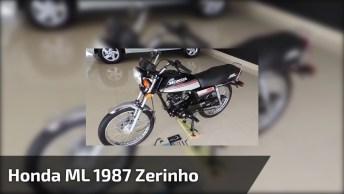 Vídeo Mostrando Uma Honda Ml 1987 Zerinho, Olha Só Que Linda!