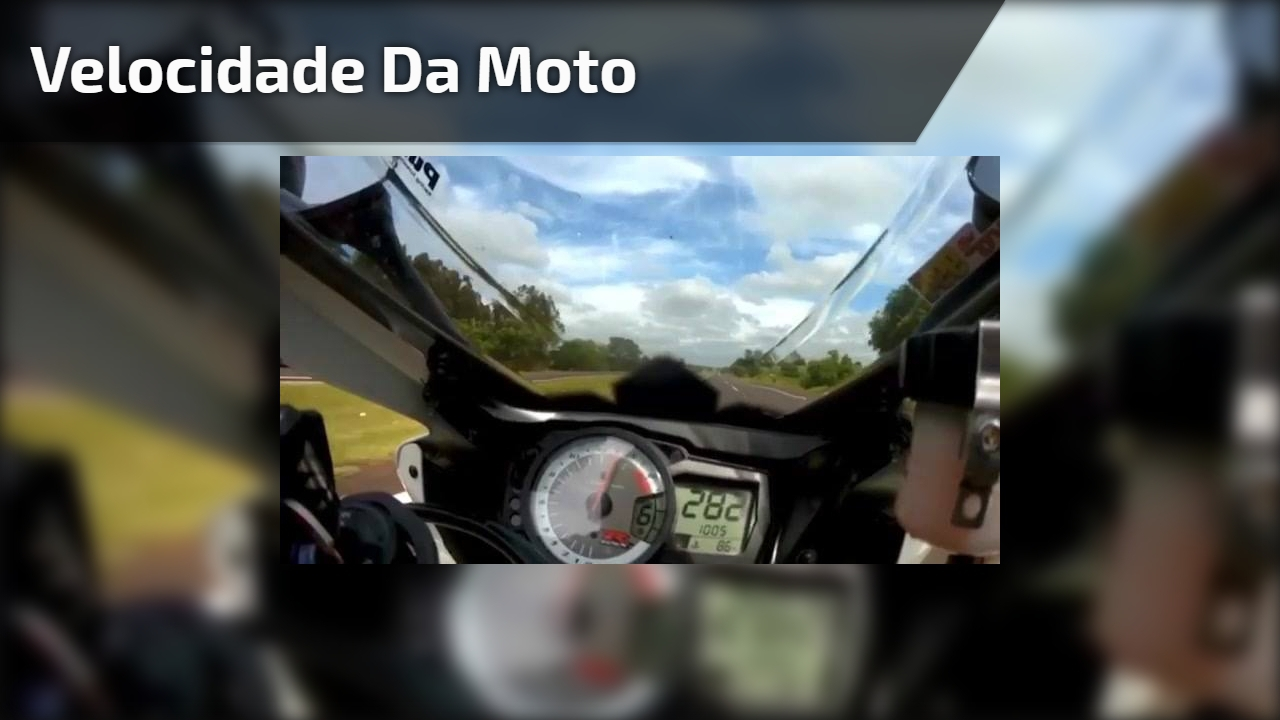 Velocidade da moto