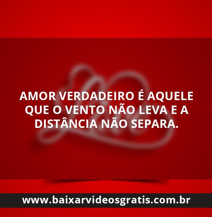 Bela mensagem de amor a distância não separa