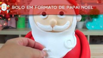 Bolo Em Formato De Papai Noel, Um Luxo Para Sua Noite Natalina!