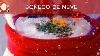 Boneco De Neve Mais Diferente Que Você Já Viu, Com Bolas De Cristal!