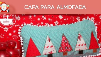 Capa Para Almofada Decorada Para O Natal, Deixe Sua Casa Linda!