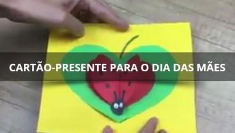 Cartão-Presente Para O Dia Das Mães, Com Uma Linda Joaninha!