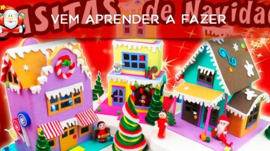 Como Fazer Uma Mini Praça Com Casas Para Enfeitar Seu Natal?