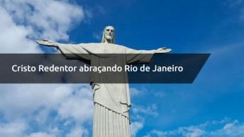 Cristo Redentor Abrasando Rio De Janeiro, Um Espetáculo Lindo Demais!