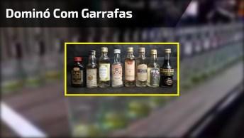 Dominó Com Garrafas, Bebida E Copos, Assista Ao Vídeo E Entenda!