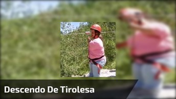 Mulher Descendo De Tirolesa Mas Algo Inusitado Acontece No Final!