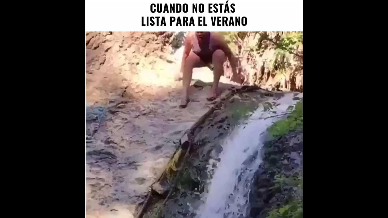 Mulheres se dando mal com as águas hahaha