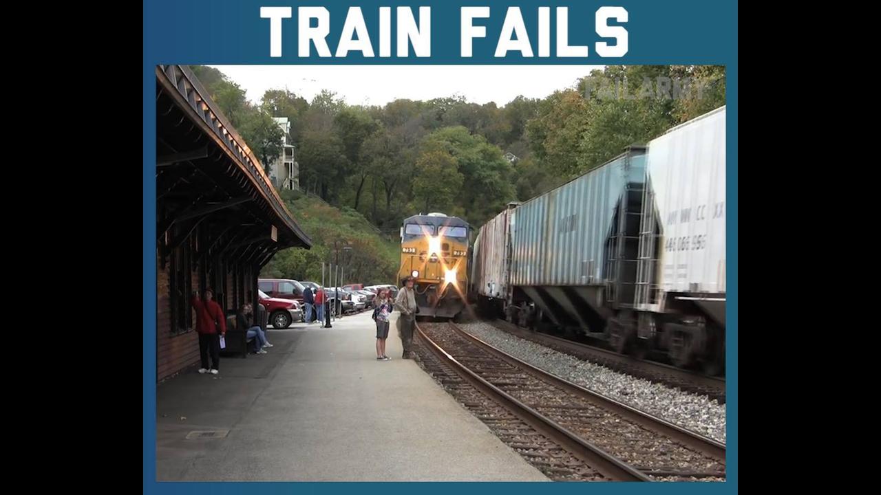 Quase acidente com trens, essas foram por pouco hein