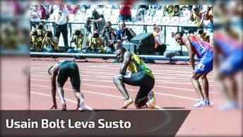 Usain Bolt É Derrubado Por Cinegrafista, E Diz 'Sem Ressentimento'!