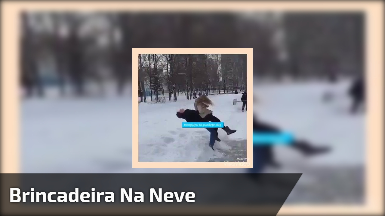 Veja que brincadeira mais, digamos, perigosa para se fazer na neve!