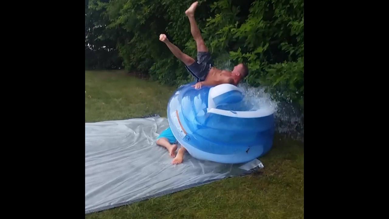 As melhores escorregadas na água