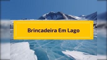 Brincadeira Engraçada Para Fazer Em Um Lago Congelado, Para Rir E Compartilhar!