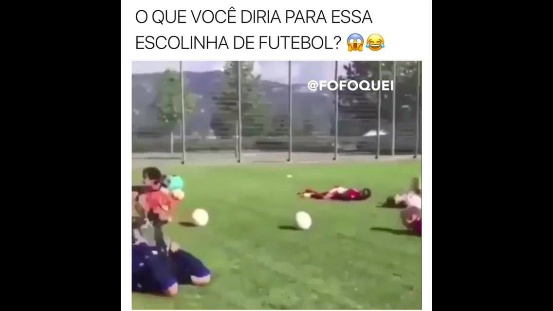 Escolinha de futebol imitando algo que aconteceu na copa, gostou?