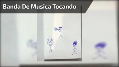Fazendo Uma Banda De Música Tocar No Desenho, Muito Engraçado!