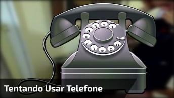 Geração Nutella Tentando Usar Telefone Antigo Com Discagem A Disco!