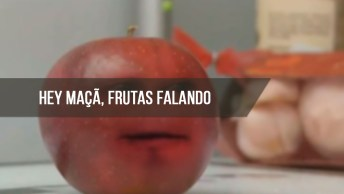 Hei Maçã, Hei Maçã, Hei Maçã. . . Um Vídeo Engraçado De Frutas Falantes Kkk!