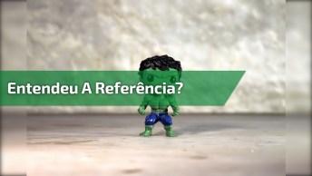 Imitando A Cena De Cinema Do Thor E Huck Brigando, Para Rir Muito!