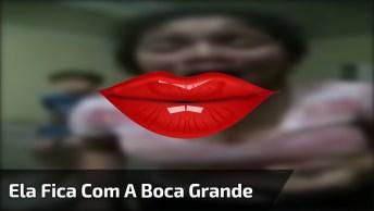 Menina Faz Experiencia Para Ficar Com A Boca Grande, Mas Se Arrepende!