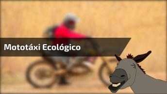 Mototáxi Ecológico, Ajuda A Não Poluir Mas Judia Do Burro, Coitado Hahaha!