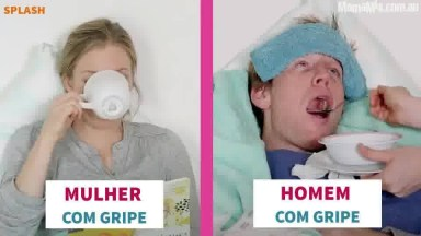 Mulher Com Gripe X Homem Com Gripe, Se Concorda, Compartilhe!