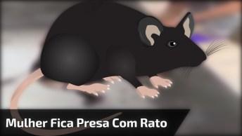 Mulher Fica Presa Em Buraco Com Rato E Dá Aquele Ataque De Medo Hahaha!