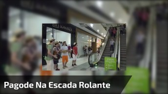 Pagode Da Ofensa Na Escada Rolante De Um Shopping, Para Rir!