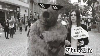 Protesto Pela Morte Da Onça Nas Olimpíadas, Com Uma Pitadinha De Humor!