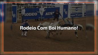 Rodeio Com Boi Humano, Ele Incorporou Mesmo Seu Papel Hein Hahaha!
