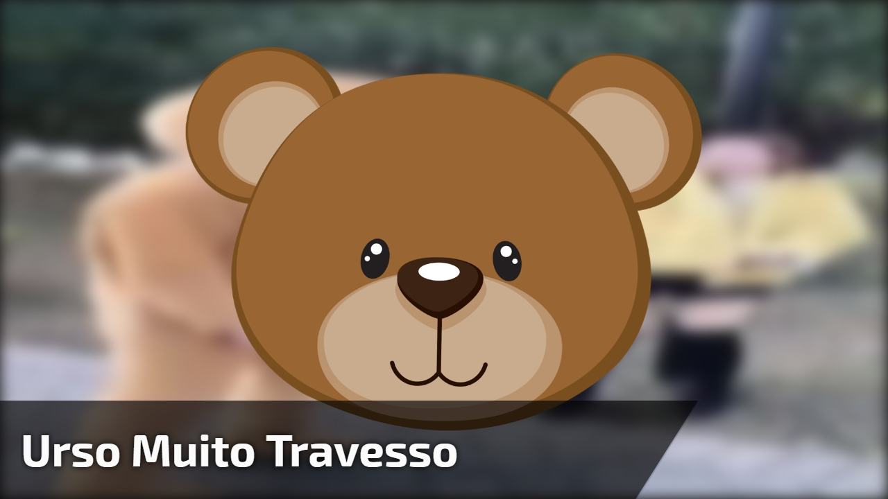 Urso muito travesso