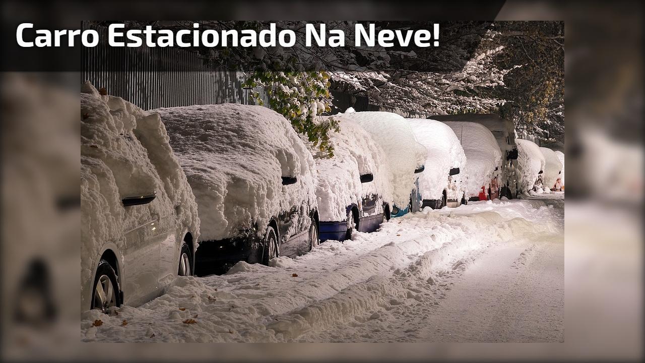 Carro estacionado na neve!