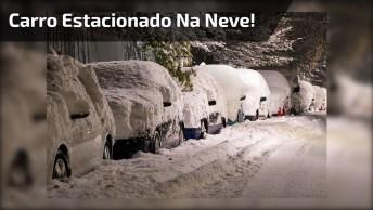 Video Engraçado De Homem Com Seu Carro Estacionado Na Neve!