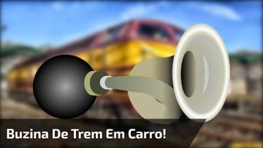 Pegadinha Da Buzina De Trem Em Carro, Imagina O Susto Hahaha!