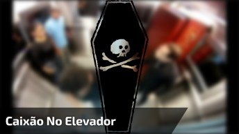 Pegadinha Do Morto No Elevador, A Reação Das Pessoas É Hilárias Kkk!