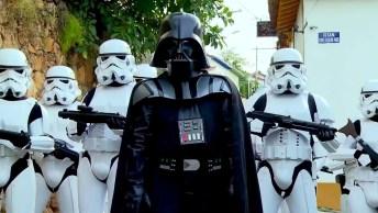 Pegadinha Em Auto Estilo Star Wars Amei! Muito Bem Feito, Perfeita!