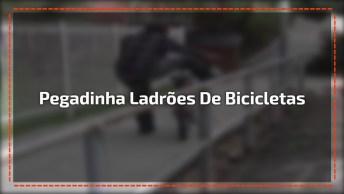 Pegadinha Para Ladrões De Bicicletas, Essa Foi Bem Bolada Hahaha!