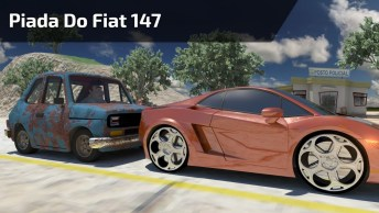 Piada Do Fiat 147, Lamborguine E Um Porsche, Muito Engraçado Kkk!