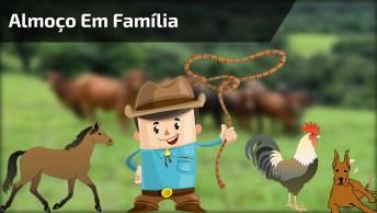 Almoço Em Família, Tem Cavalo, Tem Cachorro E Até Uma Gatinha, Confira!