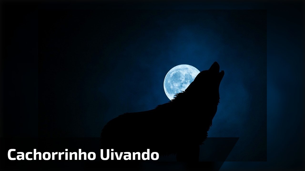 Cachorrinho uivando