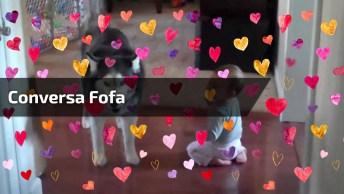 Cachorro Conversa Com Bebê, Que Coisa Mais Linda, O Amor É Demais!