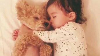 Criança E Cachorro Dormindo, Uma Cena Super Fofa De Se Ver, Confira!