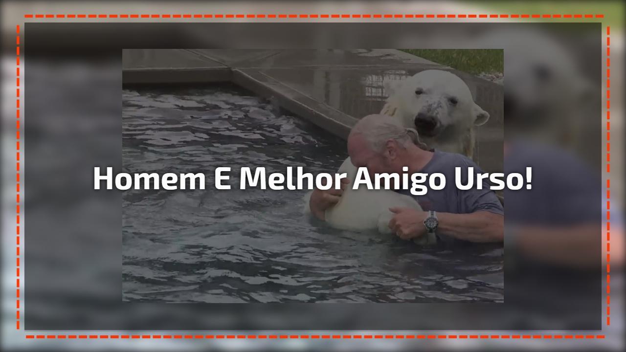 Homem e seu melhor amigo um urso polar, que amizade linda e inusitada!