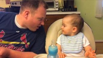 As Melhores Risadas De Bebês Saem Com Os Papais, Confira!