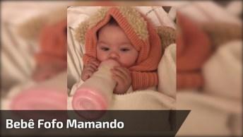 Barulhinho De Bebê Mamando Na Mamadeira, Que Coisa Mais Fofinha!